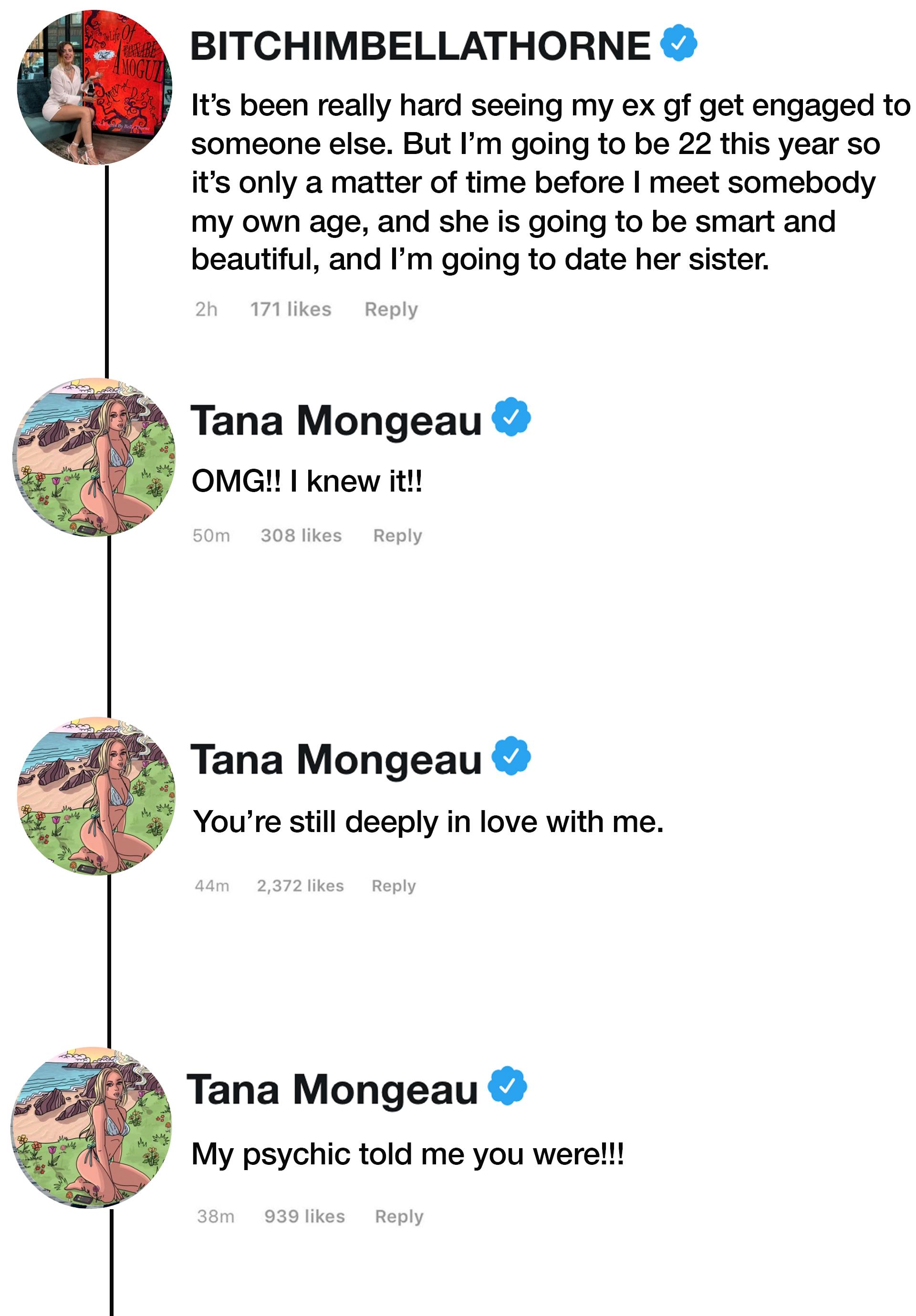 Tana Mongeau Still Loves Bella Thorne Despite Being Engaged